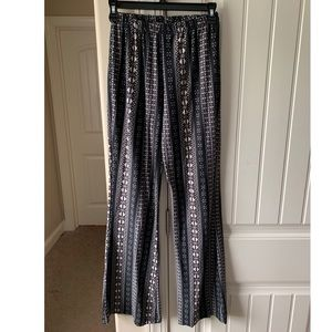 Stretchy Patterned Flare Pants